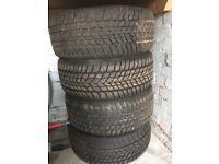 GOOD YEAR WINTER TYRES. 225/45/R17. BE SAFE THIS WINTER AND MORE TO COME!