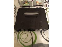 Selling great condition Nintendo 64 and two games!