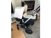 Immaculate bugaboo cameleon 3 choice of off white or red hood and apron