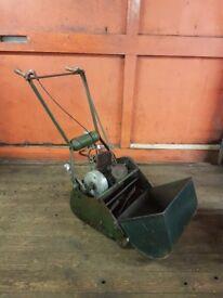 "Vintage Atco Kickstart 14"" Cylinder Lawnmower with Villiers 2-stroke engine"