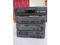 1980's HiFi Stack - NAD amp, tuner and cassette + Technics CD