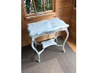 Antique Edwardian Occasional Side Table - Shabby Chic Distressed