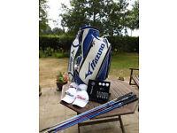 GOLF BUNDLE - AMAZING RESALE VALUE - RRP £1000+!!! Shafts + Hats + Bag + Mercedes Golf Set
