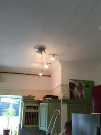 Funky 3 spot suspended light - reduced price to sell