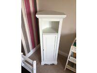 Next Corner Bathroom Cabinet - white
