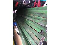 Square tube metal bar box section 25 mm