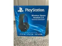 PS4 Sony PlayStation Wireless Stereo Headset 2.0 Brand New & Sealed