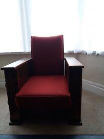Unique 1920 Art Deco Smoking Chair