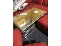 Wood mirror coffee table