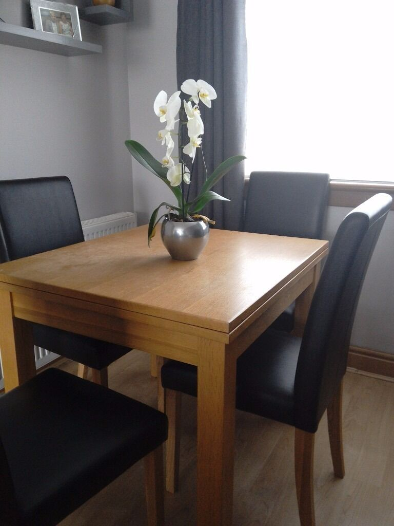 Harveys Flip Top Extending Dining Table And 4 Chairs For Sale 250