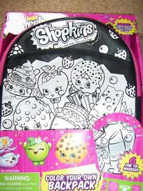 Shopkins Colour Your Own Backpack
