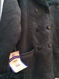 BNWT Women's Real Slate Sheepskin coat size 16