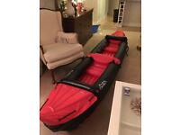 2 man inflatable canoe/ kayak
