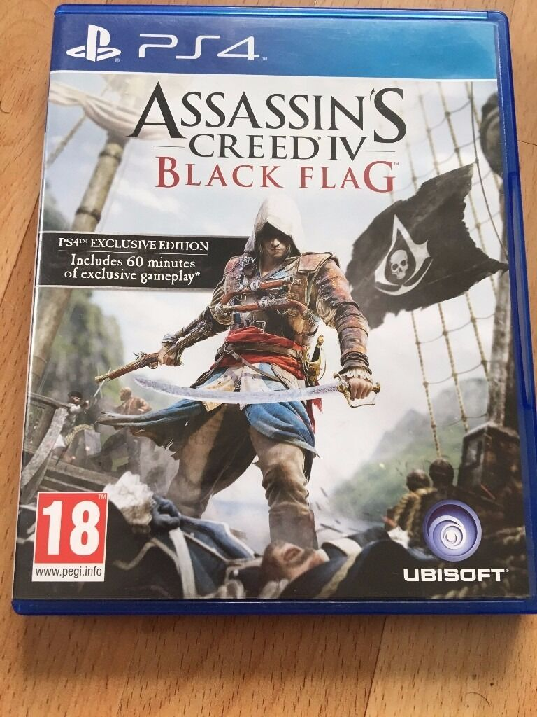 Assassins Creed Black Flagin Levenshulme, ManchesterGumtree - Assassins Creed Black flag for PS4 in perfect condition. Works fine, just not playing it anymore so worth somebody else having it. Collection from Levenshulme