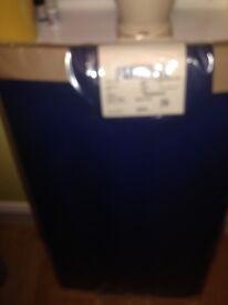 Blue 4 foot 6 inch bedhead headboard.