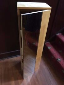 Slim, tall wall-mounted mirror cabinet with 3 shelves Coulsdon nr Croydon CR5