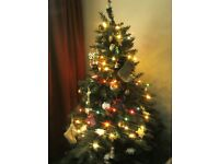 Christmas tree 6 ft plus 2sets of light perfect condition good quality from melbicks
