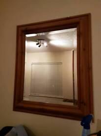 Medium sized wooden frame mirror