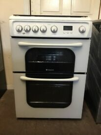 Hotpoint gas cooker 60cm FSD double oven 3 months warranty free local delivery!!!!!!!!!