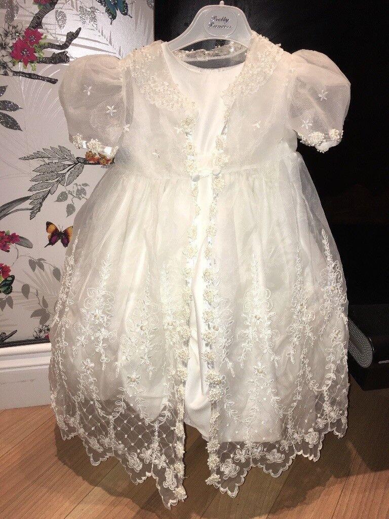 Romano princess ivory dress and jacket - christening