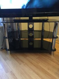 Medium sized black TV stand