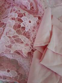 Pink lace womans medium dress