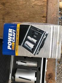 Power Craft 11-piece diamond core bit set in case