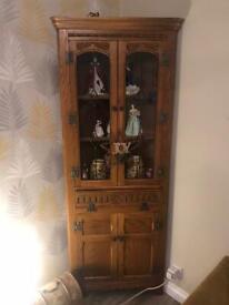 Old charm oak corner unit