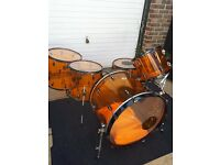 Peace orange acrylic drums .shells only