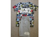 STAR WARS shorty pyjamas (M&S age 9-10)