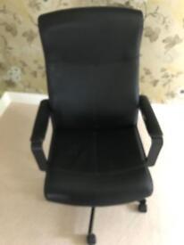 Ikea black millberget swivel officechair