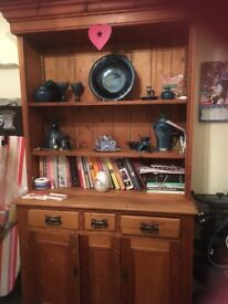 Old fashioned pine Welsh dresser