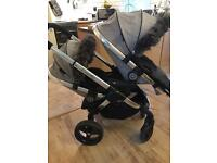icandy Peach 2 double pushchair, with adapters and extas