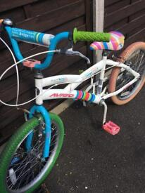 Girls rainbow bike