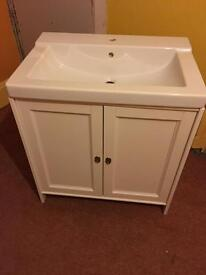 Large vanity unit and basin