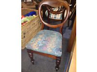Attractive Vintage Mahogany Victorian Balloon Back Dining Chair