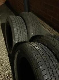 2 x General grabber 2 x cooper discoverer 235 70 17 all terrain tyres