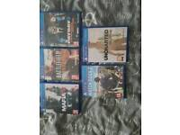 PlayStation 4 1tb and 5 games