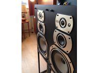 Vintage 70s Wharfedale Laser 130 vintage speakers plus stands