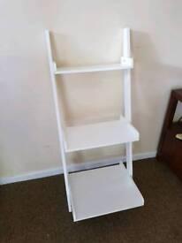 Small white ladder shelves