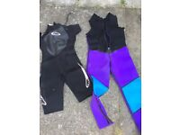 Wet suits his and hers