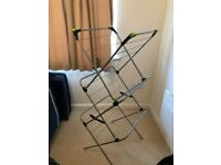 Foldable Metal Clothes Drying Rack Airer with 24 bars