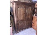 Solid oak TV/drinks cabinet
