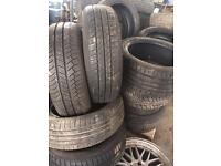 Approximately 100 part worn tyres