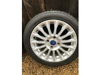 "16"" FORD FIESTA MK 7/8 Titanium 16 Spoke ALLOY WHEEL And TYRE Zetec 3mm 1"