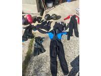 4 Wetsuits 2 Life Jackets 2 Helmets 2 sleeping bags
