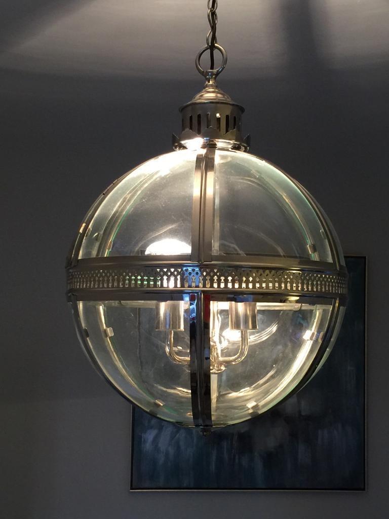 Ceiling light globe pendant glass chrome in north shields ceiling light globe pendant glass chrome aloadofball Choice Image