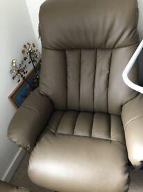 Chair & Footstool (Recliner)