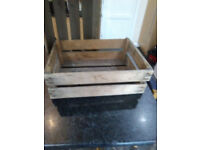 Wooden display crates for veg, bottles, jars etc