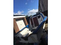 14 foot Norman Dijon Fishing Boat - with trailer (winch), spare wheels + 25hp Johnson Outboard